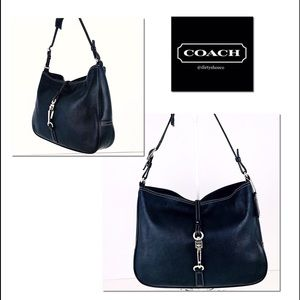 🎁🎄Coach Leather Hamptons Clip Hobo Shoulder Bag